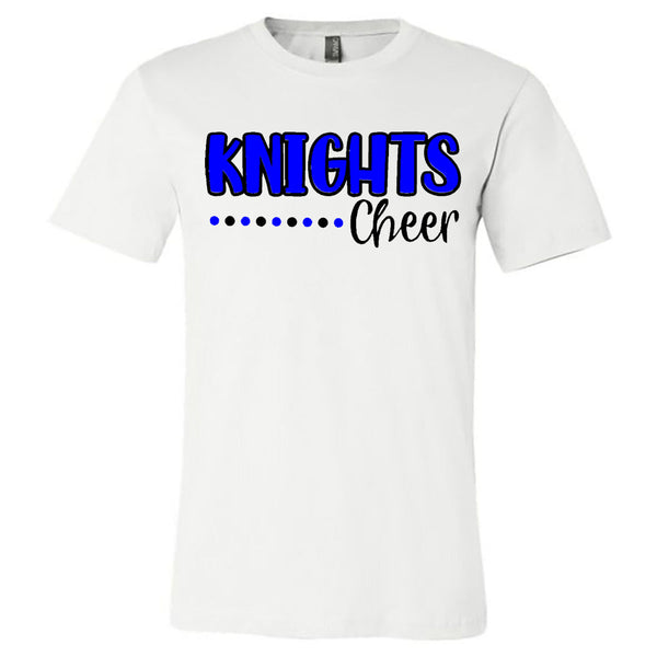 Windsor - Cheer - Knights Cheer Polka Dots - White Short Sleeve Tee (REQUIRED)