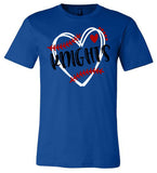 Windsor - Knights Baseball with Heart - Bella Shortsleeves  Southern Grace Creations