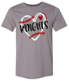 Windsor - Knights Baseball with Heart (Tee/Hoodie/Sweatshirt)