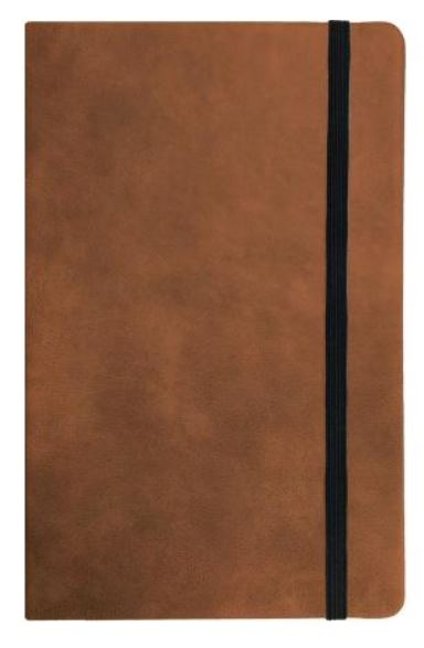 TAN FAUX LEATHER NOTEBOOK LARGE A5 - Engravable (ZAMH0014)