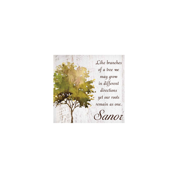 Personalized Tree Boxed Sign (Engravable)