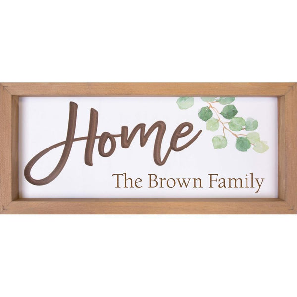 Engravable - Home Framed Sign