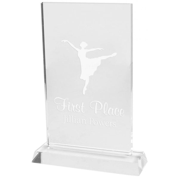 Engravable - Crystal Plaque