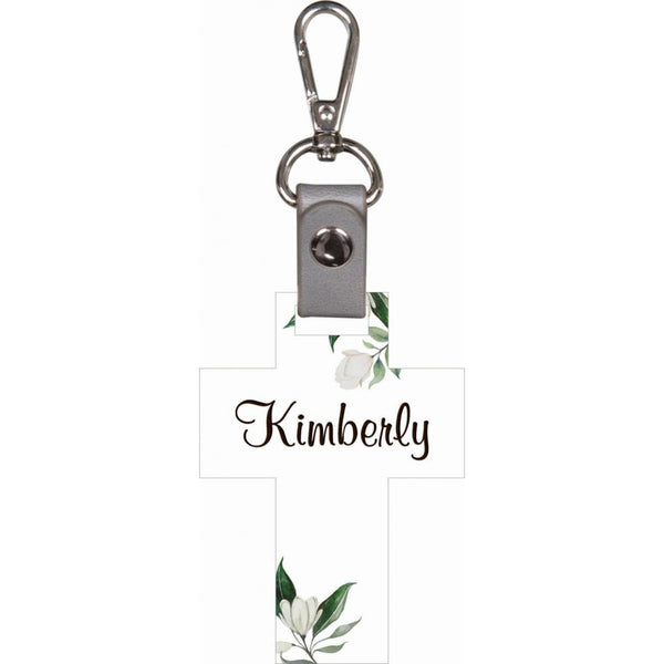 Personalized Cross Key Chain (Engravable)