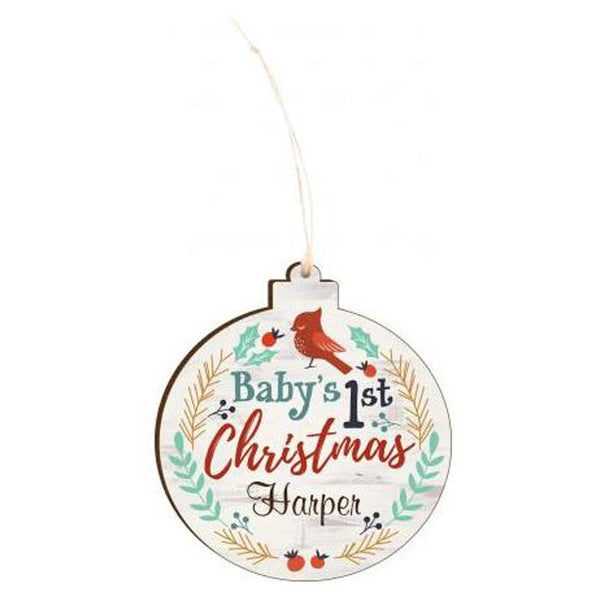 BABY'S FIRST ORNAMENT  PERSONALIZED AND ENGRAVABLE