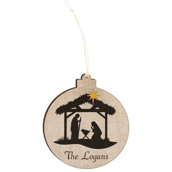 THE REASON FOR THE SEASON NATIVITY ORNAMENT- ENGRAVABLE