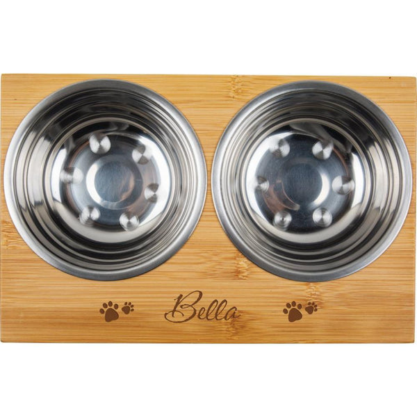 Personalized Pet Bowl w/ Stand (Engravable)