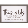 THIS IS US FRAMED SIGN