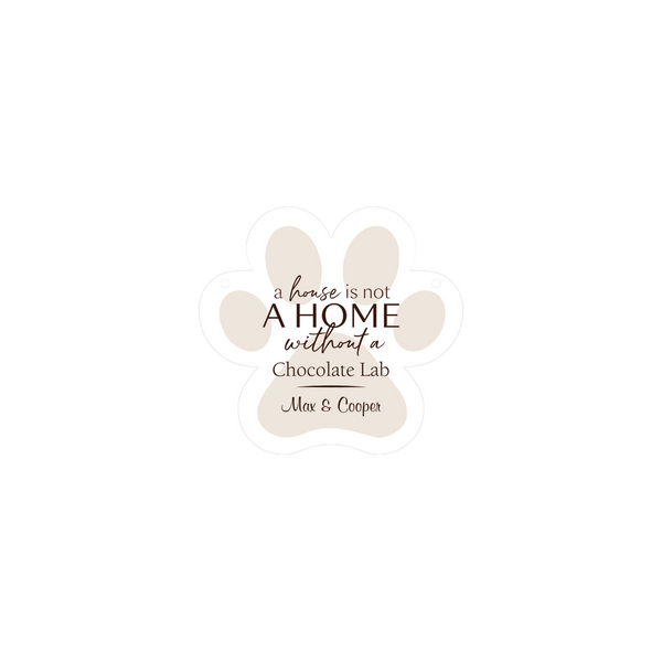 Personalized Large Paw Hanging Sign (Engravable)