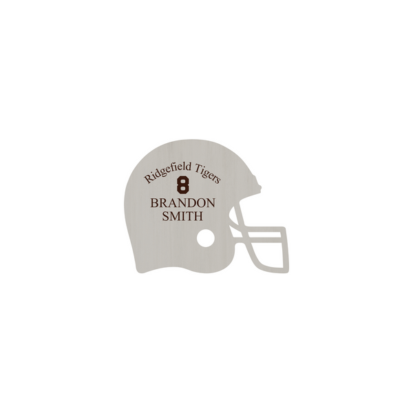Personalized Football Helmet Sign (Engravable)