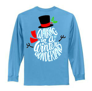 Winter Wonderland Tee - Long Sleeve Aqua