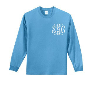 Winter Wonderland Tee - Long Sleeve Aqua - Southern Grace Creations