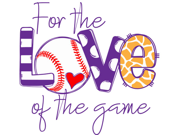 Baseball - For The Love Of The Game - Sport Grey Tee