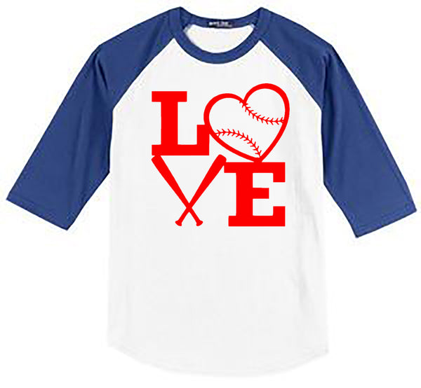 BASEBALL LOVE WITH BATS - Southern Grace Creations