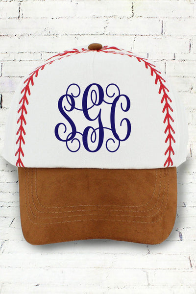 BASEBALL STITCHES CAP - Southern Grace Creations
