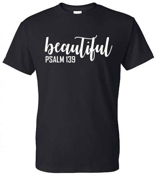 """Beautiful"" (Psalm 139) Tee - southern-grace-creations"