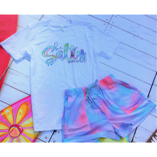Be Salty Tie Dye Short Set