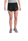 Monogrammed Athletic Shorts - Black/Red
