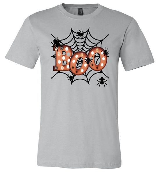 Boo Spiderweb - Silver Short/Long Sleeve Tee