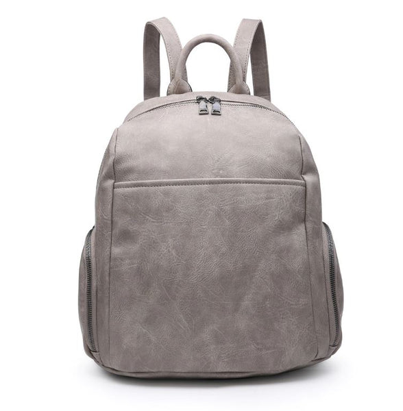 Vegan Leather Bag - Grey