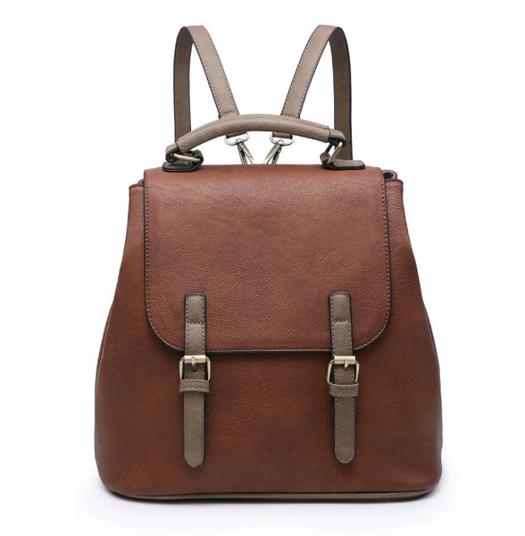 Vegan Leather Bag - Brown