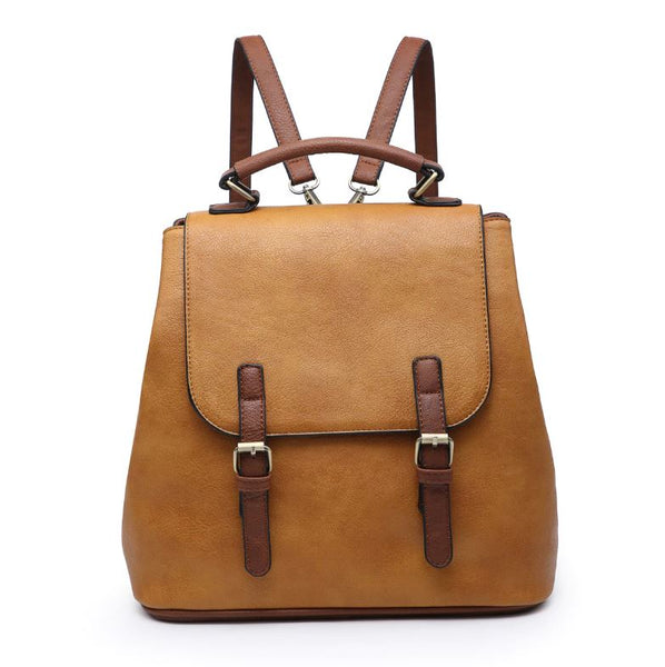 Vegan Leather Bag - Mustard
