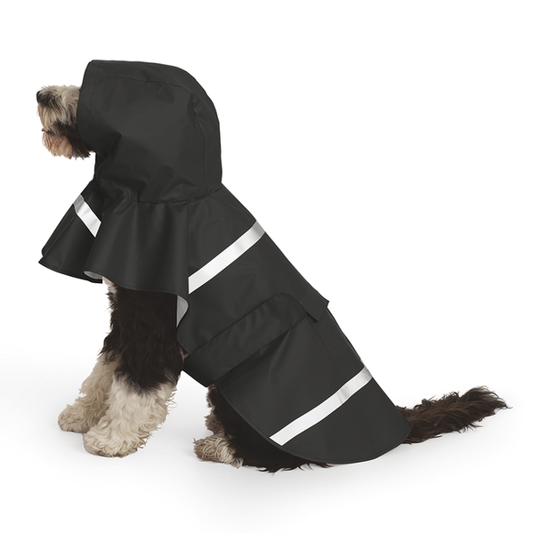Charles River Dog Rain Jacket- Black