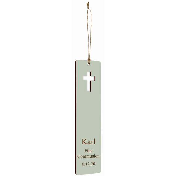 Engravable Cross BookMark