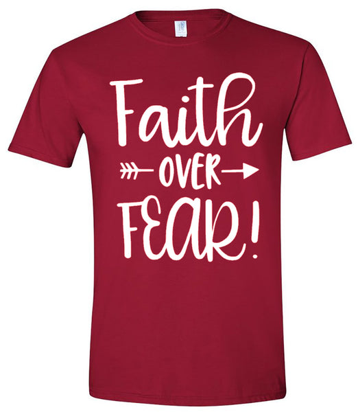 Faith Over Fear - Garnet Short Sleeve Tee - Southern Grace Creations