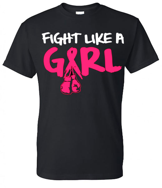 """Fight Like A Girl"" - Breast Cancer Tee - Southern Grace Creations"