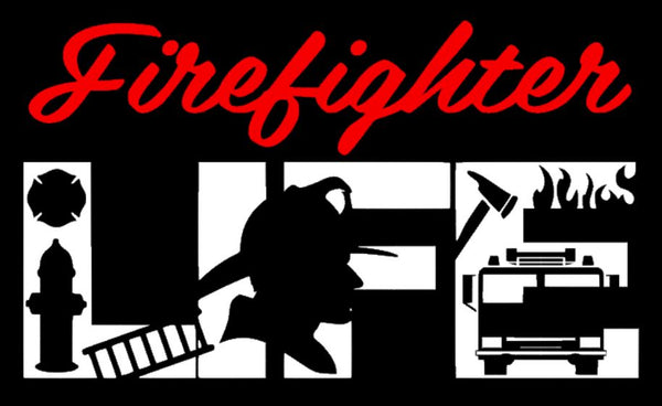 """Firefighter Life"" Decal - southern-grace-creations"
