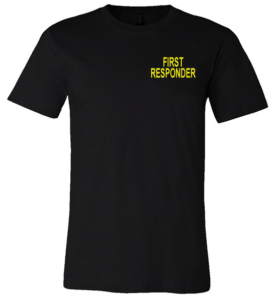 First Responder Flag - Black Short-Sleeve Tee