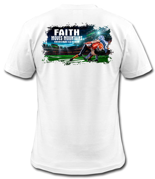 "Football ""Faith Moves Mountains"" Tee"