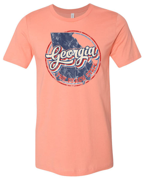 Georgia Retro - Sunset Short Sleeve Tee