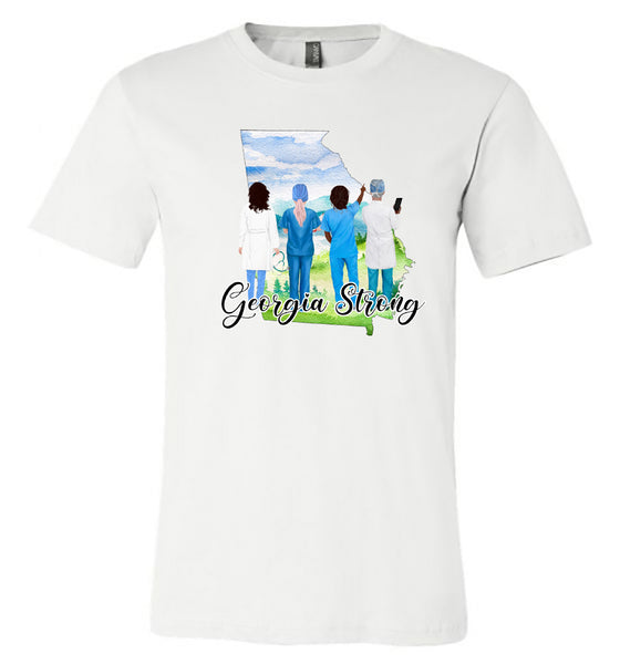 Georgia Strong - Medical - White Short-Sleeve Tee southern grace creations