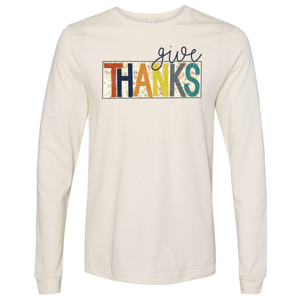 Give Thanks Floral Box - Natural Tee