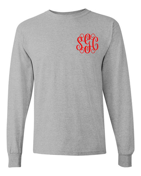 Most Wonderful Time of the Year Tee - Long Sleeve Heather Gray - Southern Grace Creations