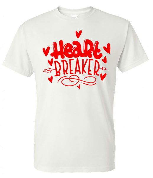 valentines day - Heart Breaker Bubble - White Short-Sleeve Tee - southern grace creations