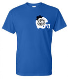 Monogrammed Football Helmet Tee (Left Chest) - Southern Grace Creations