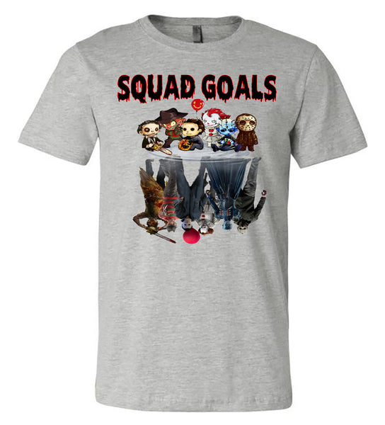 Horror - SquadGoals - Athletic Heather Short Sleeve Tee