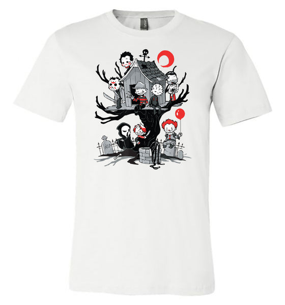 Horror - Tree House - White Short Sleeve Tee