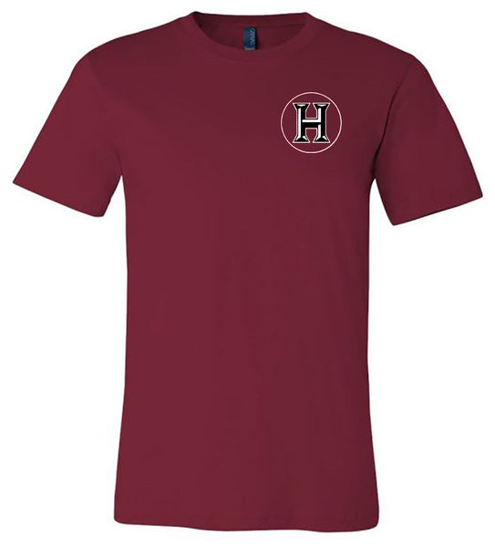 Howard - Huskies with Polka Dot Circle - Cardinal Bella Shortsleeves  Southern Grace Creations