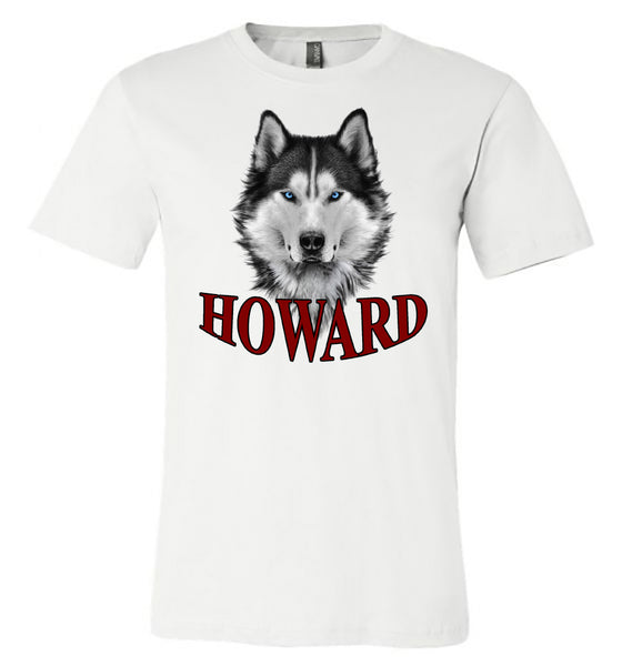 Howard - Husky Head - White Bella Shortsleeves  Southern Grace Creations
