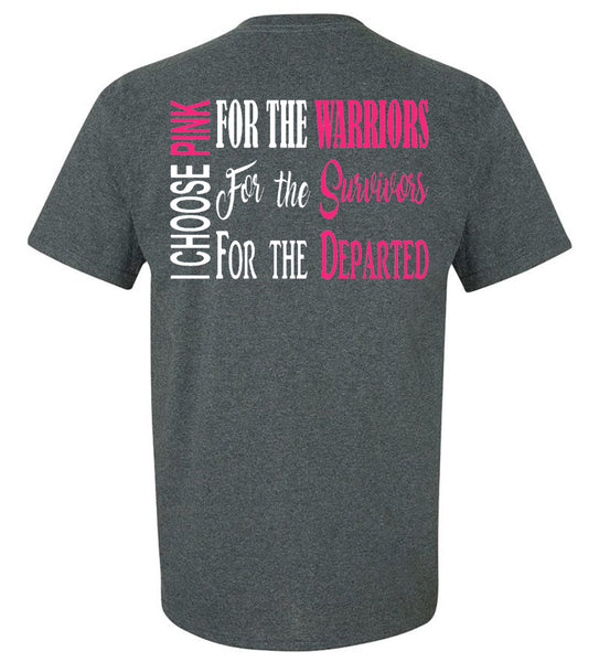 """I Choose Pink"" - Breast Cancer Tee - southern-grace-creations"