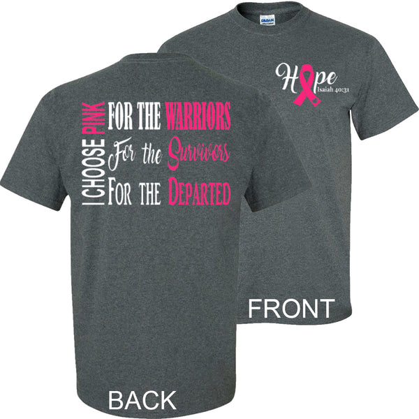 """I Choose Pink"" - Breast Cancer Tee - Southern Grace Creations"