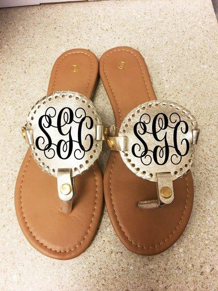 Monogram Disc SANDALS - Champagne