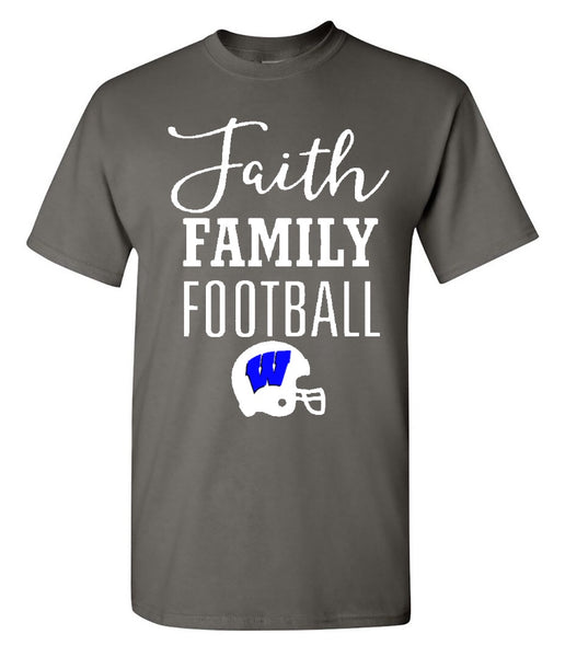 Windsor - Faith Family Football (Windsor) - Charcoal Tee