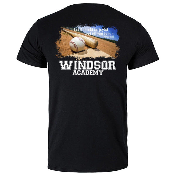 windsor - baseball field picture - black tee