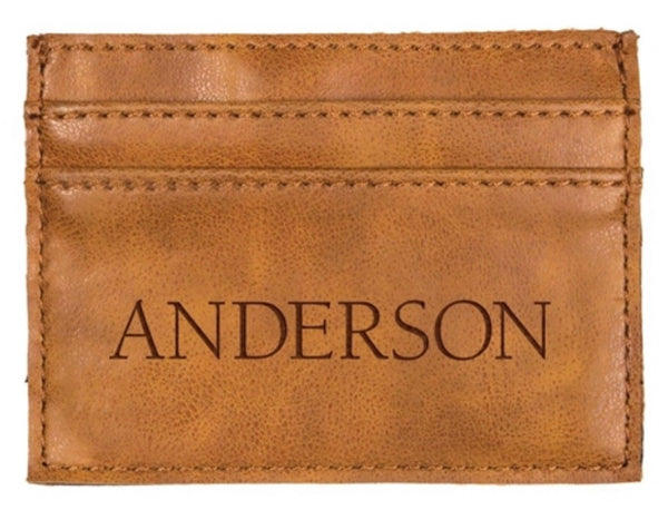 FAUX LEATHER CREDIT CARD WALLET - Engravable (ZWAL0001)
