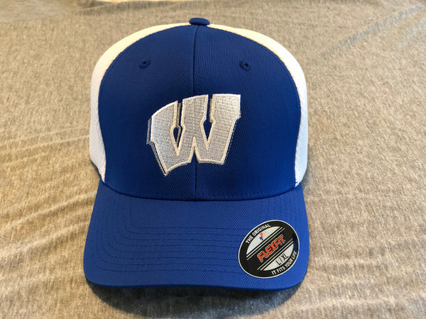 Windsor Flexfit Mesh Back Cap (C812) - Royal/white